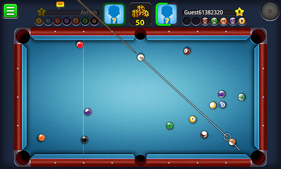 Shoot eight ball pool against live players. POT the 8 BALL LAST, after you�ve potted your other balls to win. Visit the shop and buy awesome new cues.Players on same computer: 1 Leaderboard? No - Online play? Yes Game is 100% free. Do you like  8-Ball Pool Multiplayer?